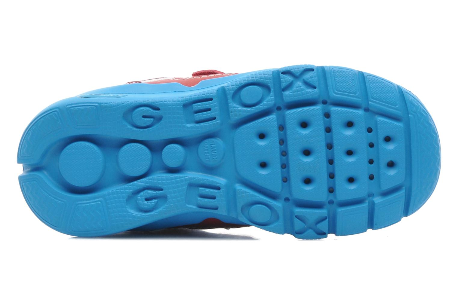 Baskets Geox B Runner Boy A Rouge vue haut