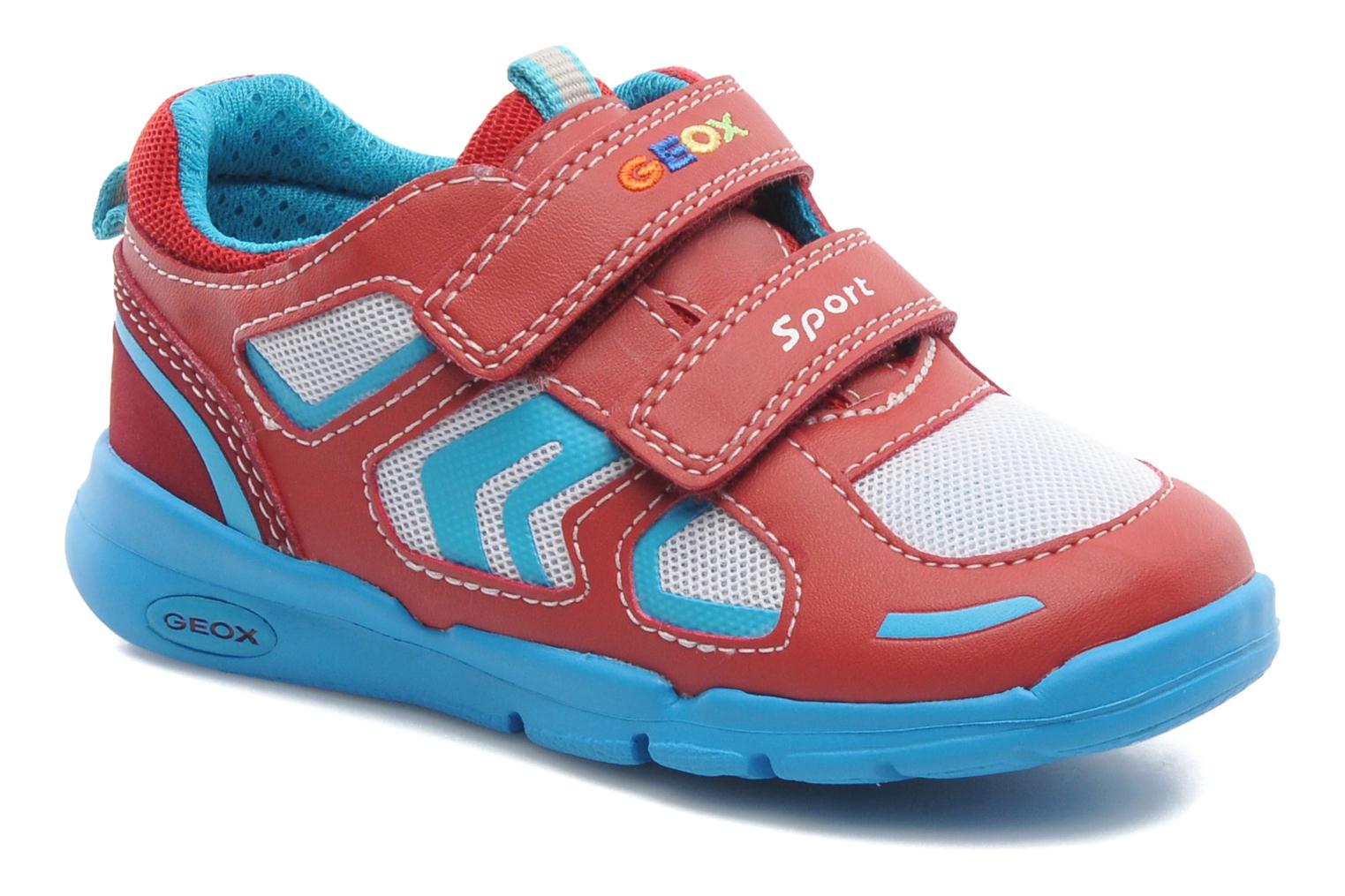 Baskets Geox B Runner Boy A Rouge vue détail/paire