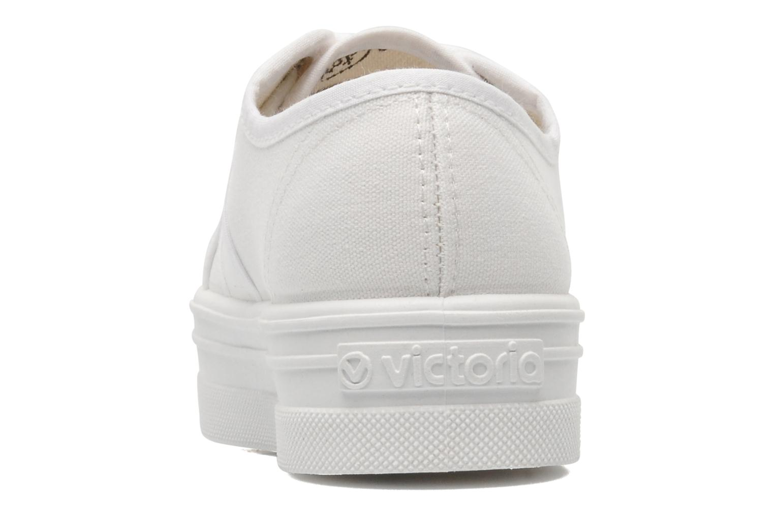 Trainers Victoria Blucher Lona Plataforma Kids White view from the right