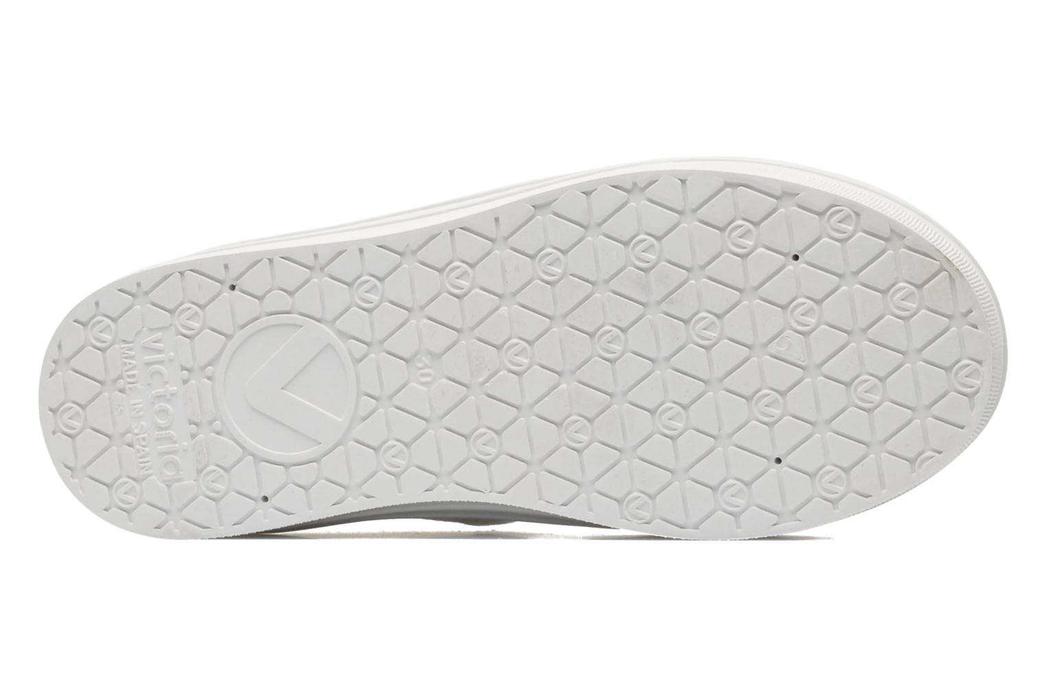Trainers Victoria Blucher Lona Plataforma Kids White view from above