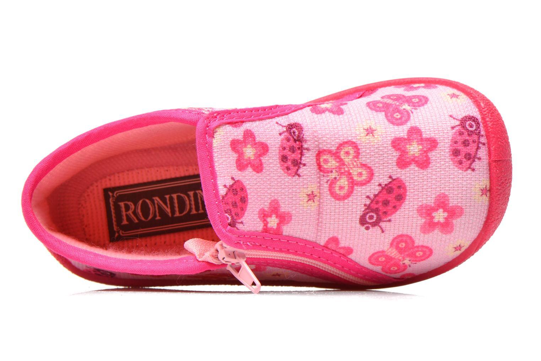 Hausschuhe Rondinaud GESSY rosa ansicht von links