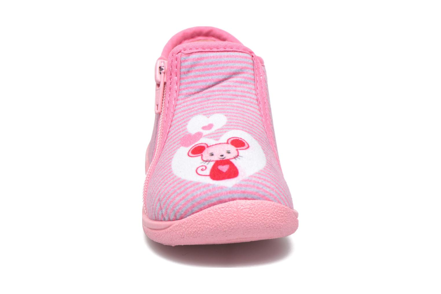 Chaussons Rondinaud GESSY Rose vue portées chaussures