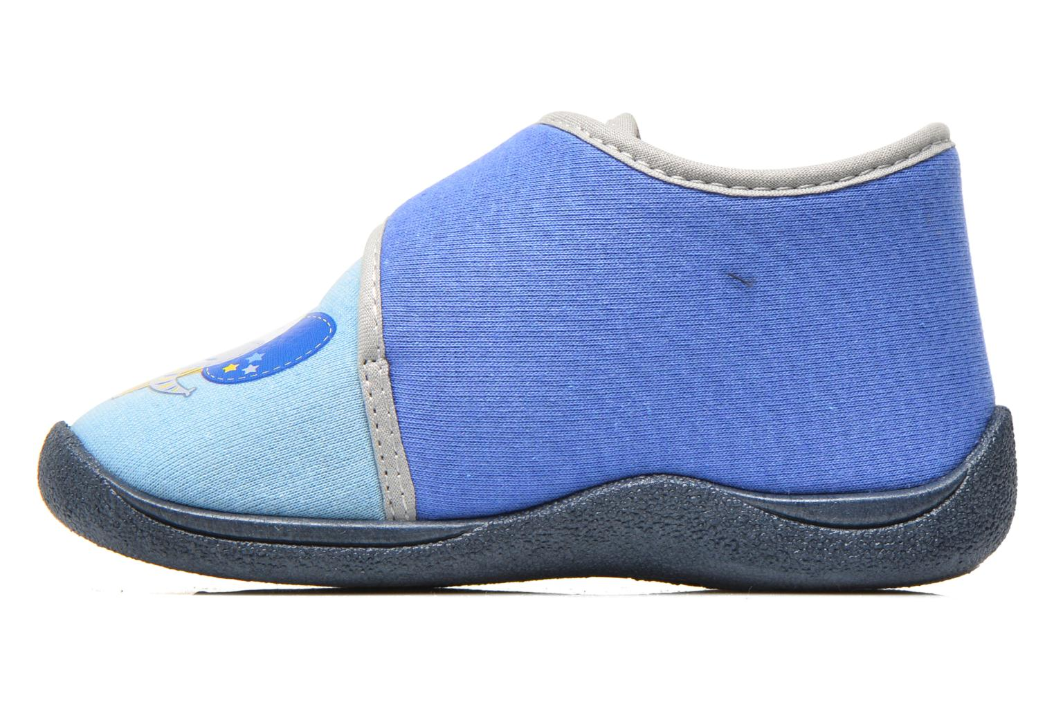 Slippers Rondinaud RECENT Blue front view
