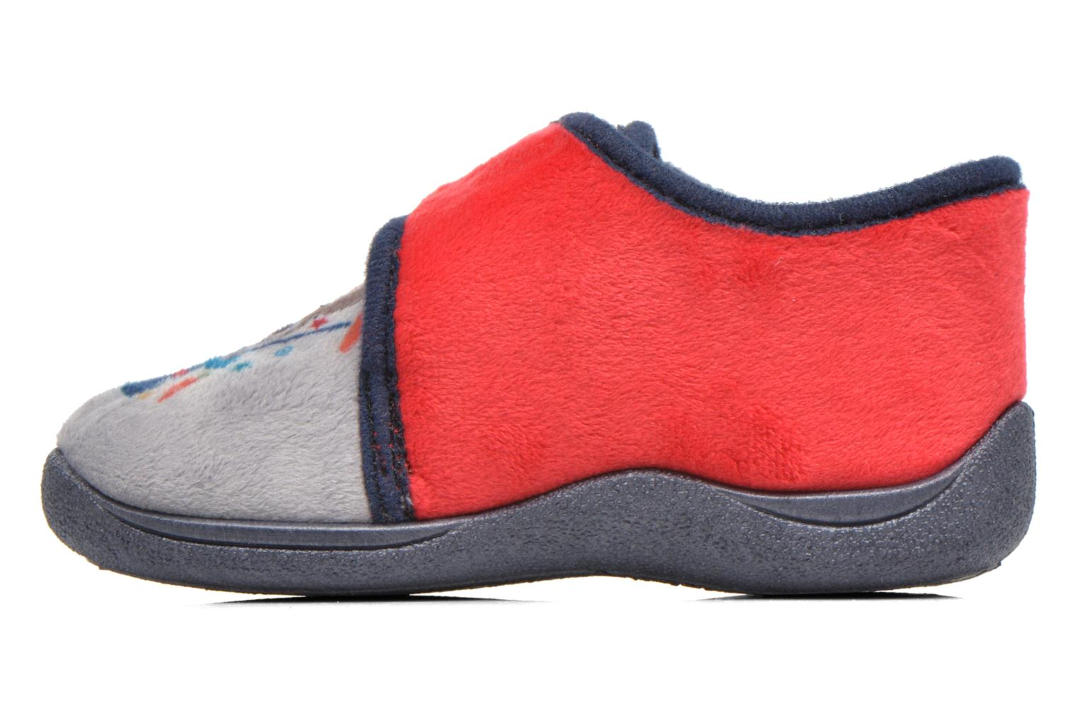 Slippers Rondinaud RECENT Grey front view