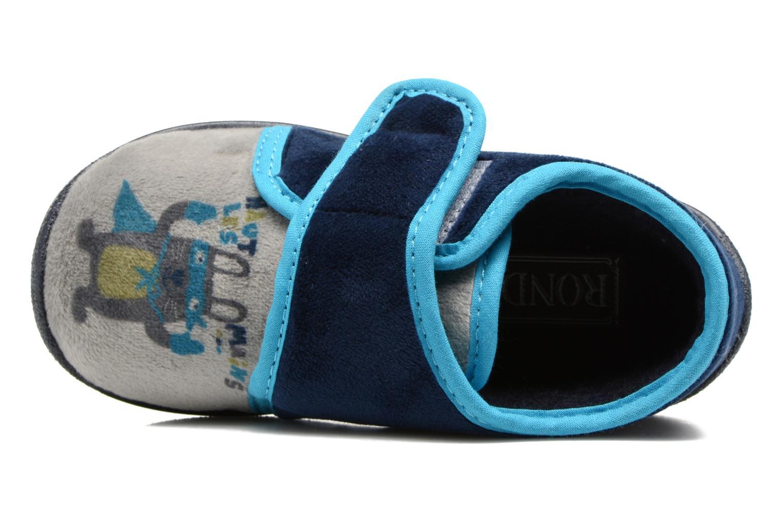 Chaussons Rondinaud RECENT Bleu vue gauche