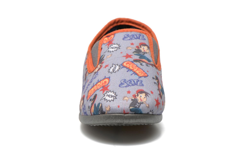 Chaussons Rondinaud JAVA Gris vue portées chaussures