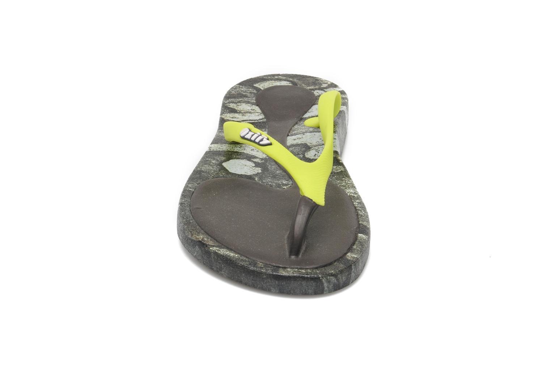 Tongs Ozify Prints W Jaune vue portées chaussures