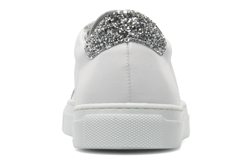 Pemillant Cuir white + glitter silver