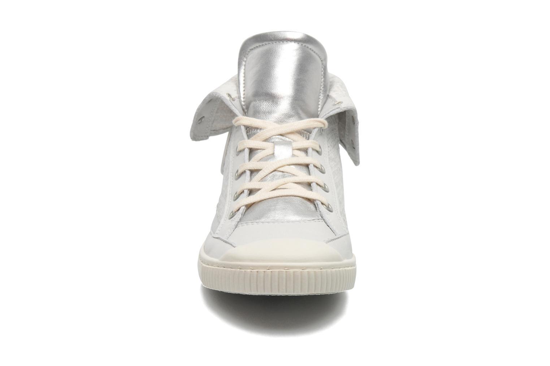 Baskets Pataugas Bandit F Argent vue portées chaussures