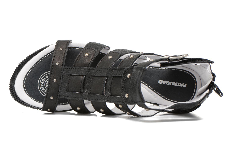 Sandalen Pataugas Corol schwarz ansicht von links