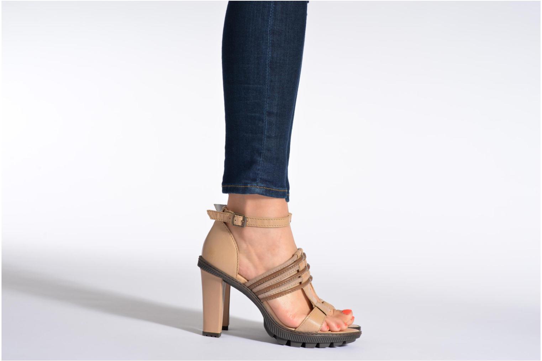 Sandales et nu-pieds Pataugas Faty/MC Noir vue bas / vue portée sac