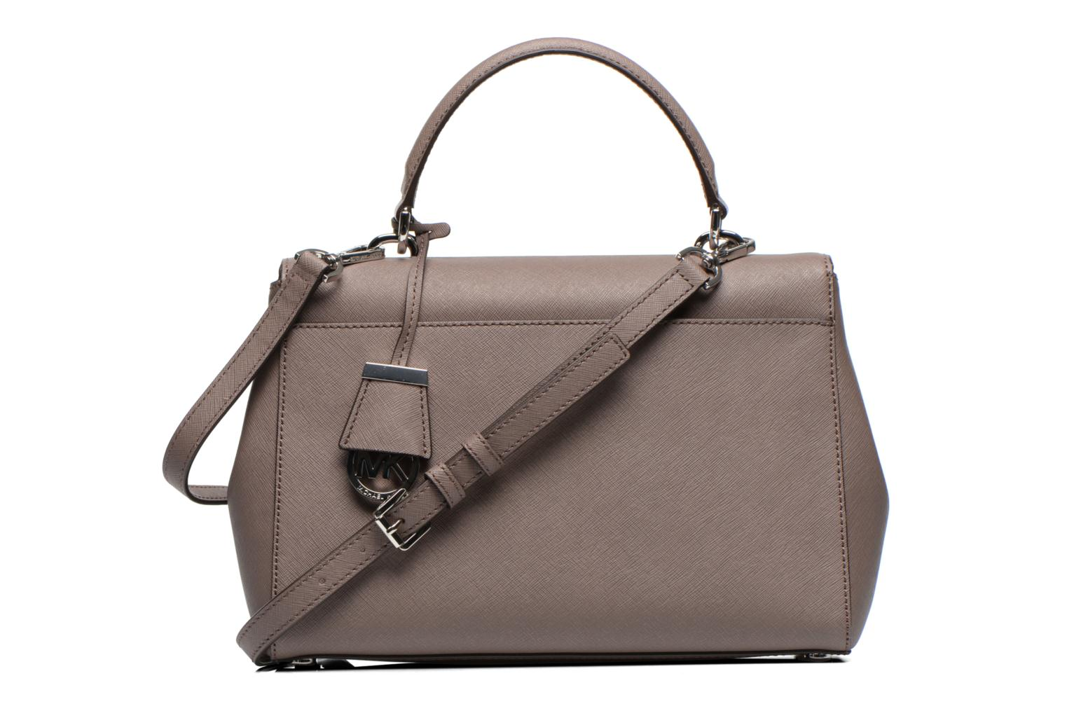 Sacs à main Michael Michael Kors AVA MD TH Satchel Gris vue face
