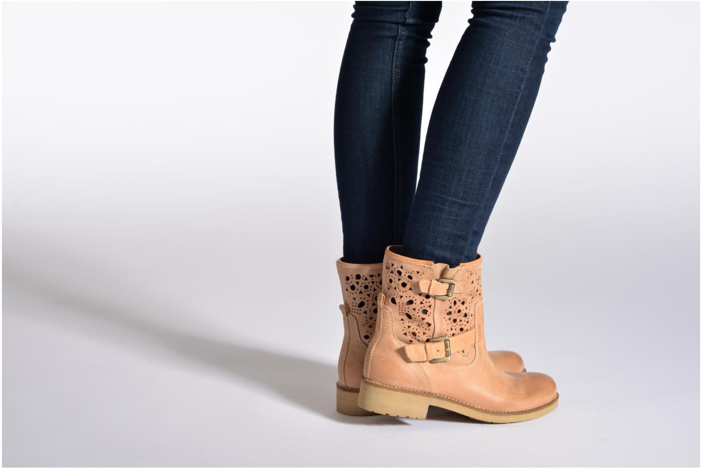 Bottines et boots Geox D New Virna A Beige vue bas / vue portée sac