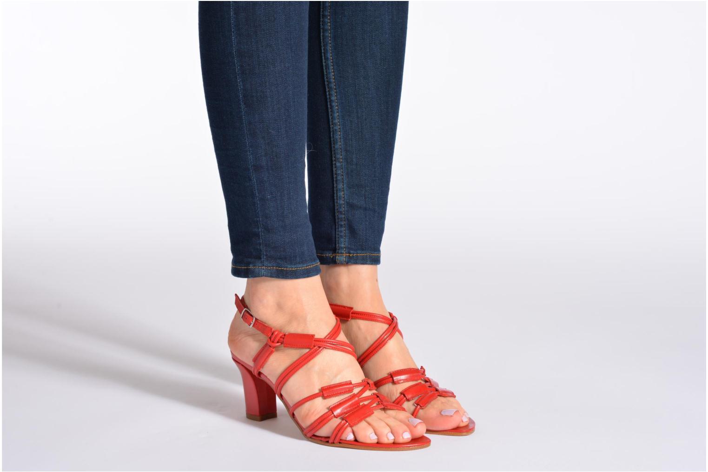 Sandales et nu-pieds Elizabeth Stuart Bakou Marron vue bas / vue portée sac