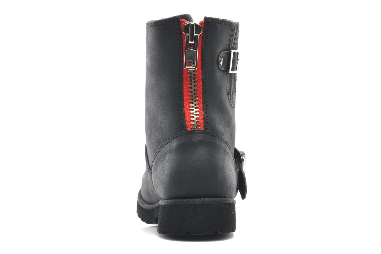 Soline Nubuck Black Red Zipper