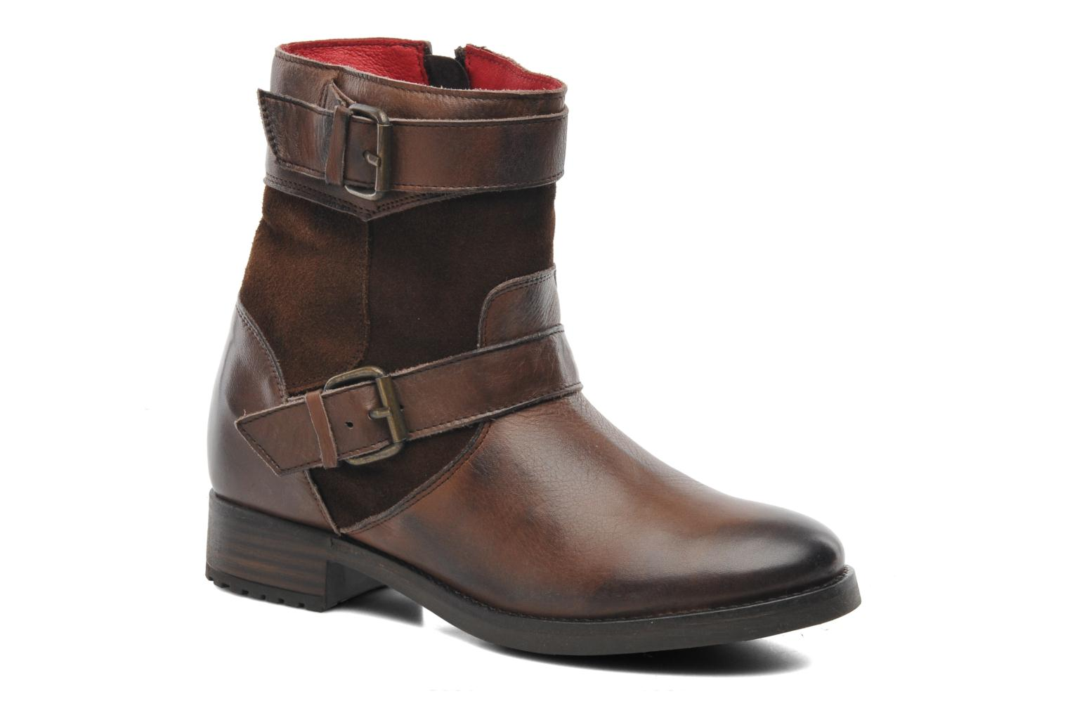 Ankle boots Buffalo Nelly Brown detailed view/ Pair view