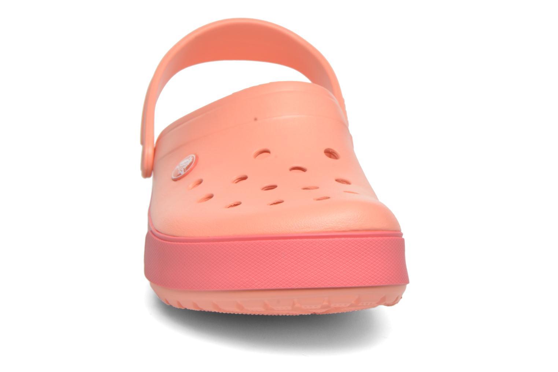 Sandalen Crocs Crocband II.5 Clog orange schuhe getragen