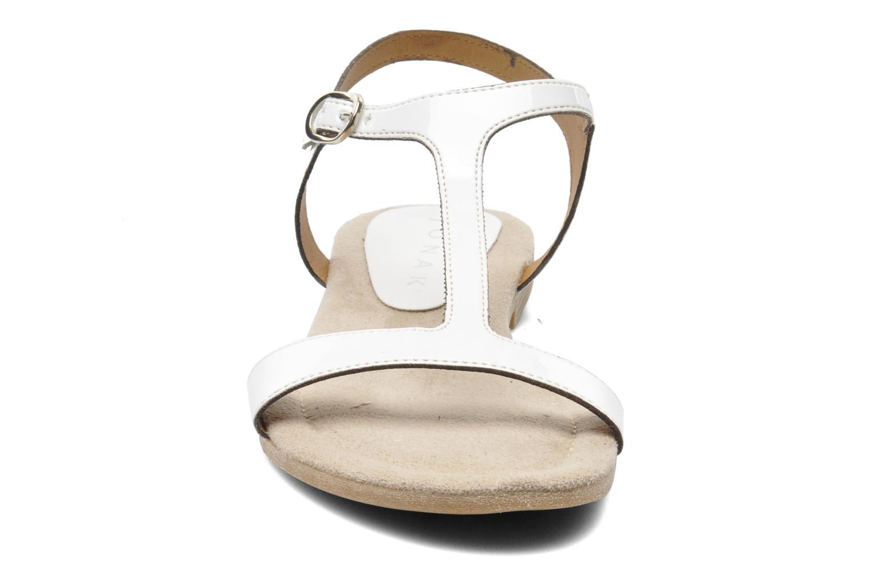 Sandales et nu-pieds Jonak Louise Blanc vue portées chaussures