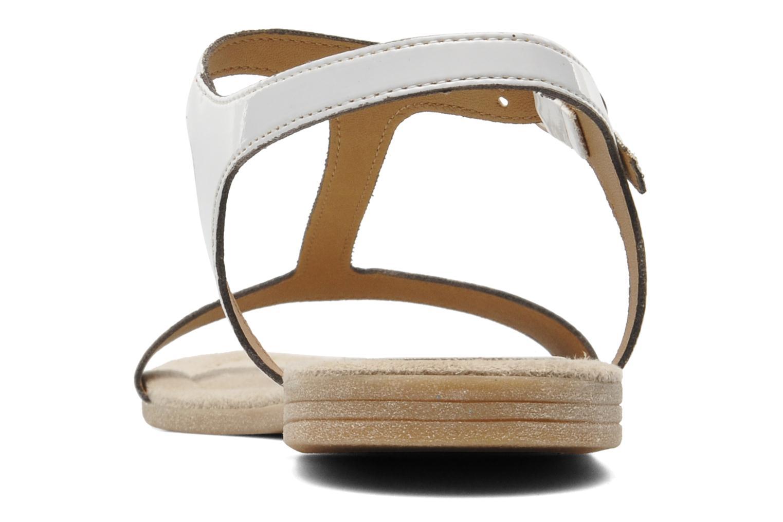 Sandales et nu-pieds Jonak Louise Blanc vue droite