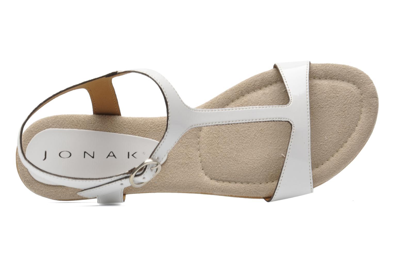 Sandales et nu-pieds Jonak Louise Blanc vue gauche
