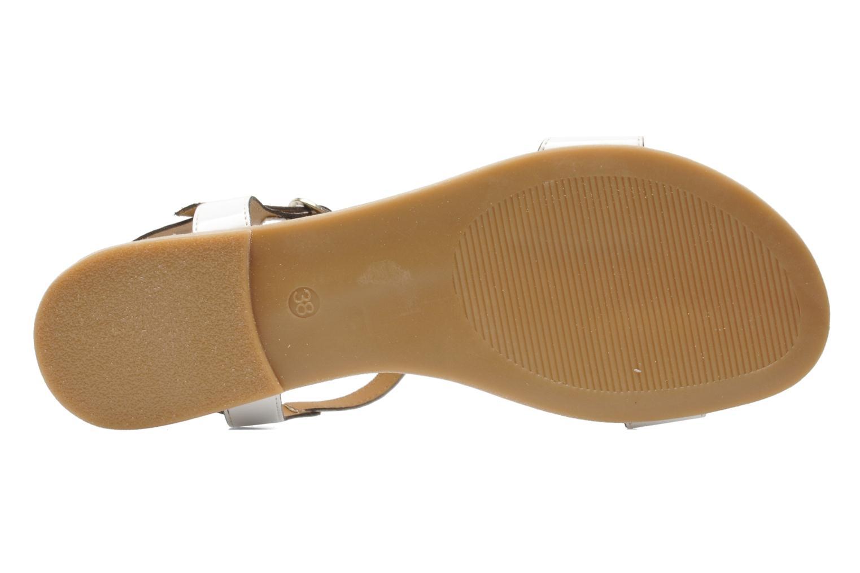 Sandales et nu-pieds Jonak Louise Blanc vue haut