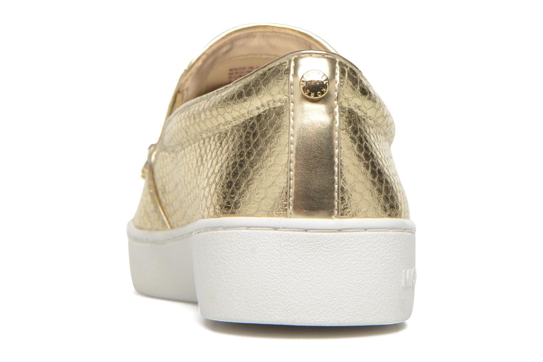 Baskets Michael Michael Kors Keaton Slip On Or et bronze vue droite