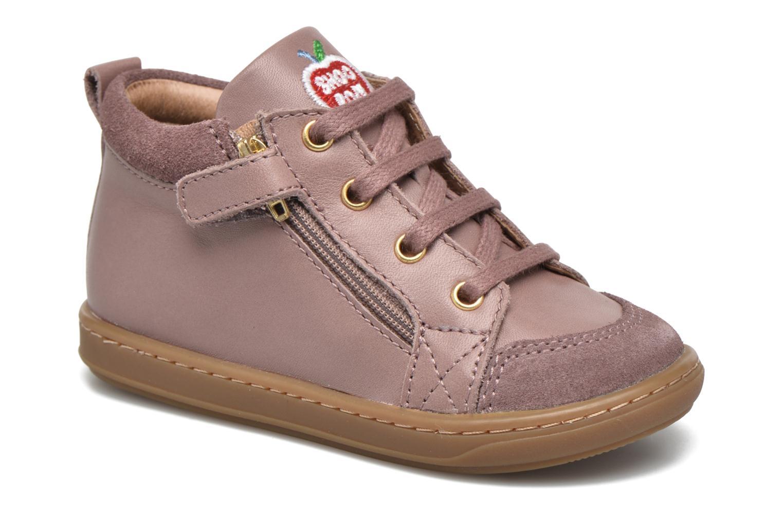 Bottines et boots Shoo Pom Bouba Bi Zip Lipiz Rose vue détail/paire