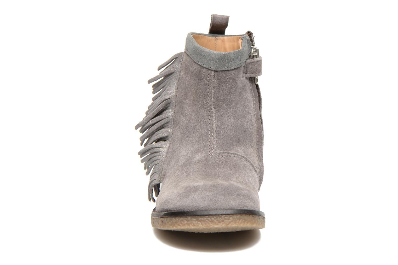 Stiefeletten & Boots Shoo Pom Hike Boots Fringe grau schuhe getragen