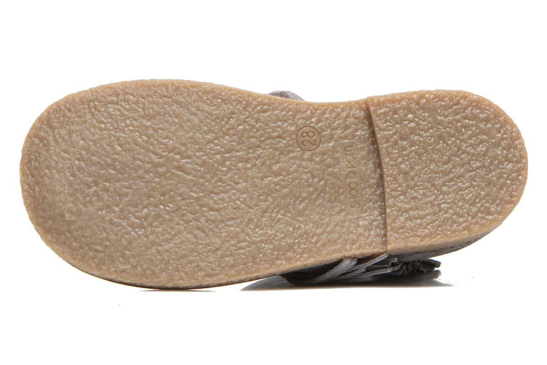 Bottines et boots Shoo Pom Hike Boots Fringe Gris vue haut