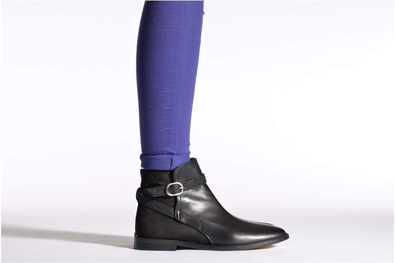 Bottines et boots Mellow Yellow Truman Noir vue bas / vue portée sac