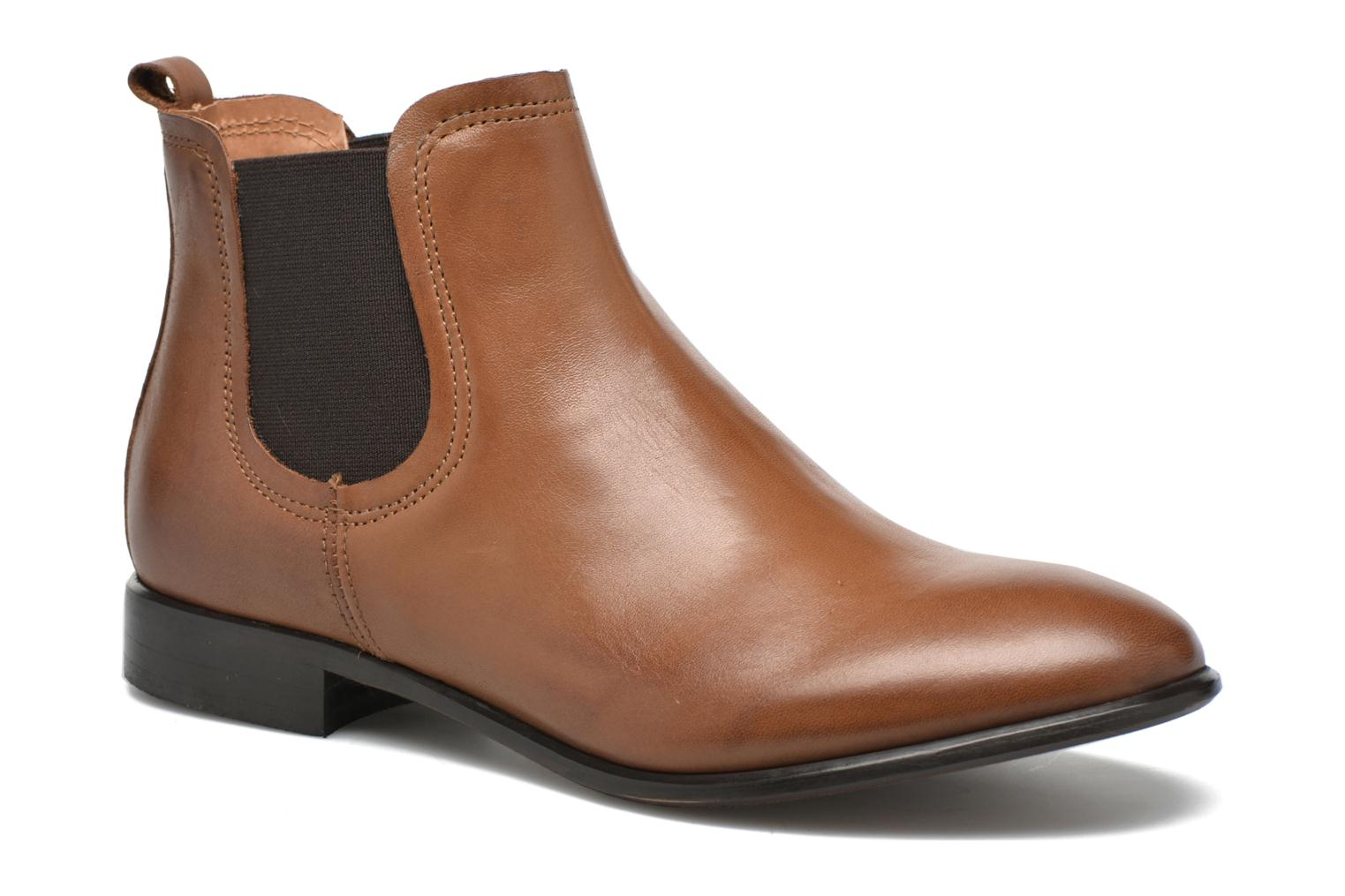 Ankle boots Georgia Rose Anillou Brown detailed view/ Pair view