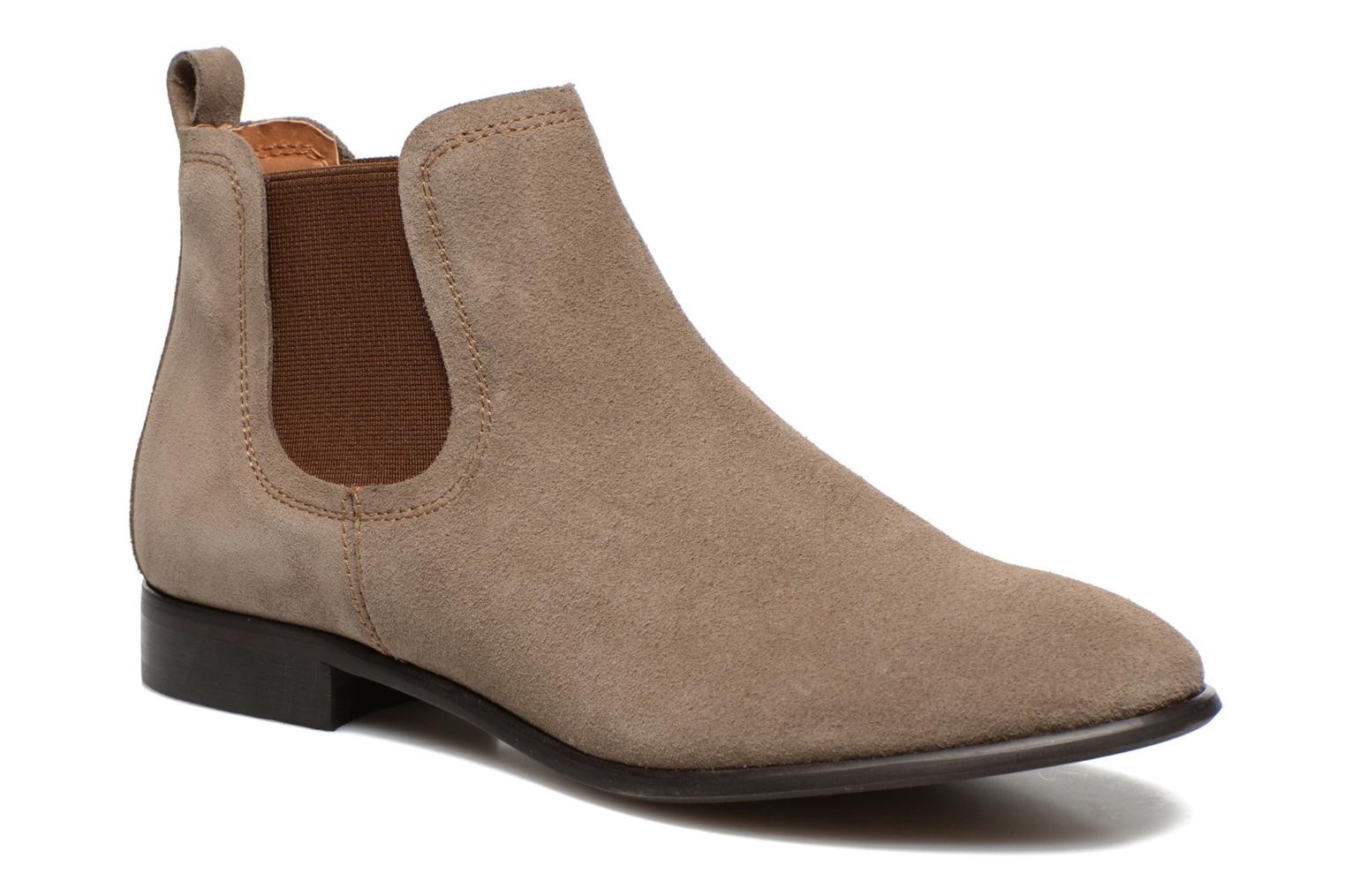 Anilla Cuir Velours Taupe