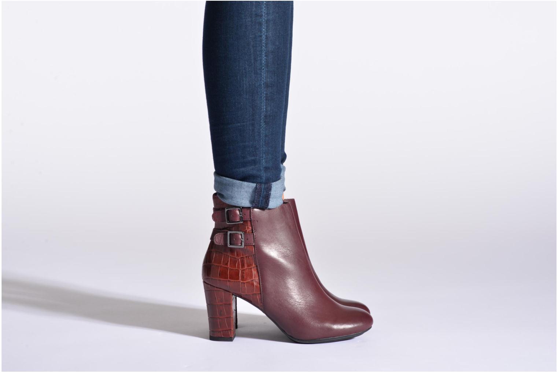 Bottines et boots Hush Puppies Ilsa sisany Bordeaux vue bas / vue portée sac