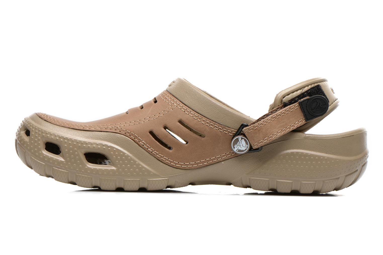 Sandali e scarpe aperte Crocs Yukon Sport Marrone immagine frontale