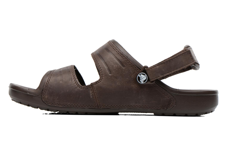 Sandales et nu-pieds Crocs Yukon Two-Strap Sandal M Marron vue face