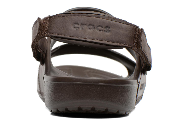Sandales et nu-pieds Crocs Yukon Two-Strap Sandal M Marron vue droite