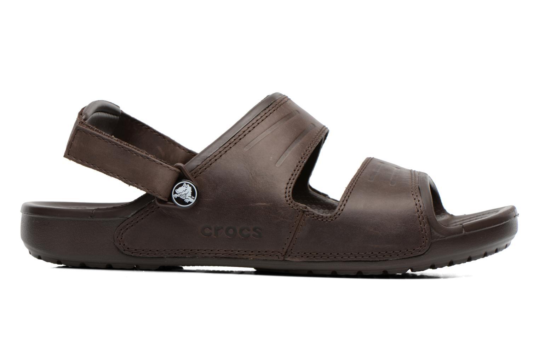 Sandalen Crocs Yukon Two-Strap Sandal M Bruin achterkant