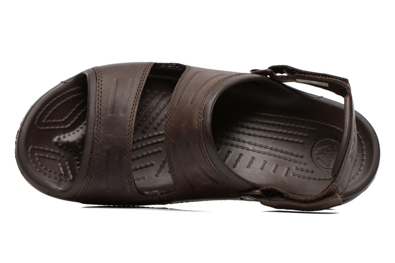 Sandales et nu-pieds Crocs Yukon Two-Strap Sandal M Marron vue gauche