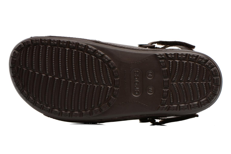 Sandales et nu-pieds Crocs Yukon Two-Strap Sandal M Marron vue haut