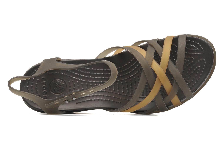 Sandalias Crocs Huarache Sandal Wedge W Marrón vista lateral izquierda