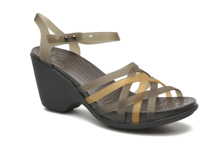 Sandalias Crocs Huarache Sandal Wedge W Marrón vista de detalle / par