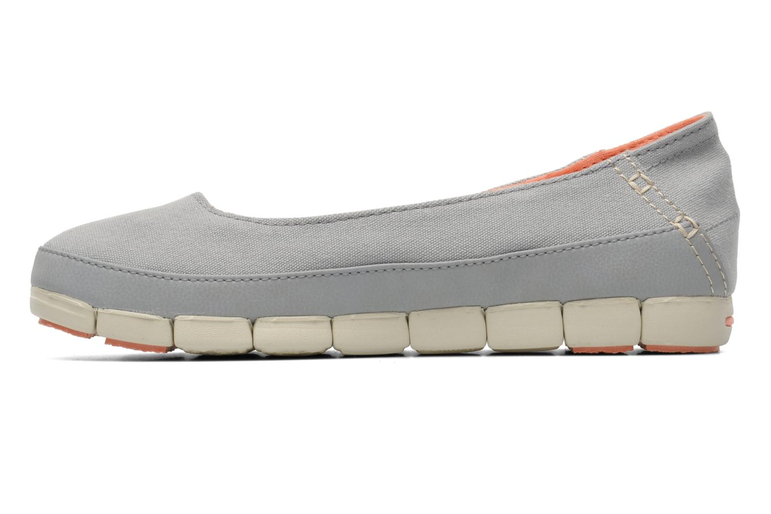 Ballerines Crocs Stretch Sole Flat W Gris vue face