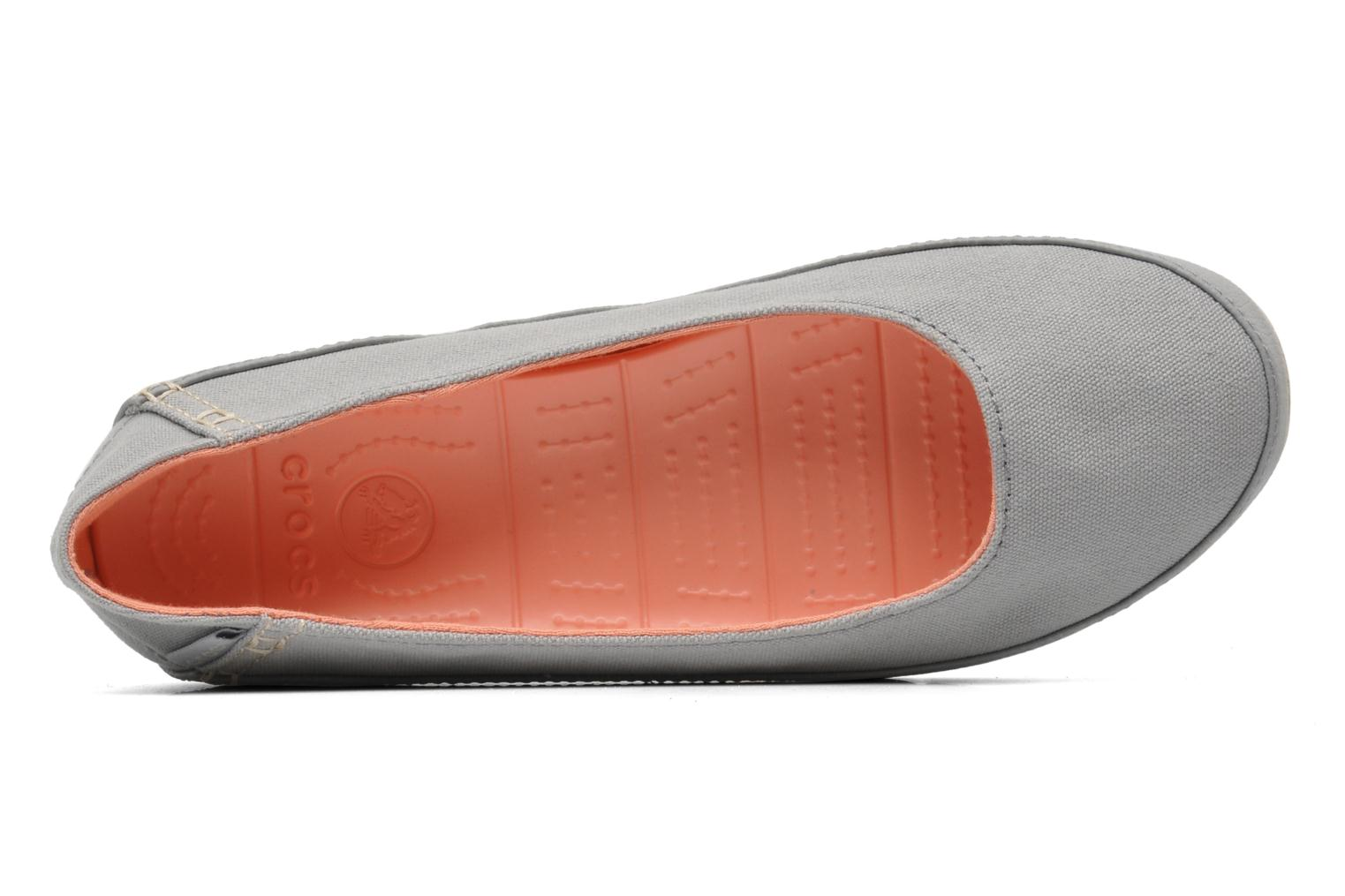 Ballerines Crocs Stretch Sole Flat W Gris vue gauche