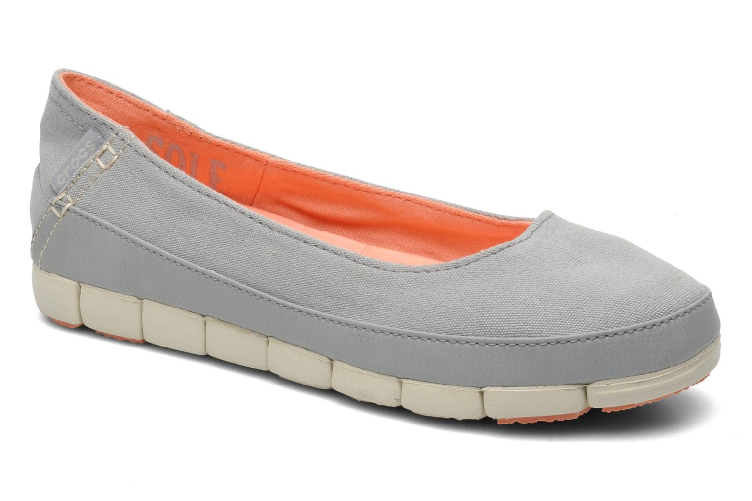 Ballerines Crocs Stretch Sole Flat W Gris vue détail/paire