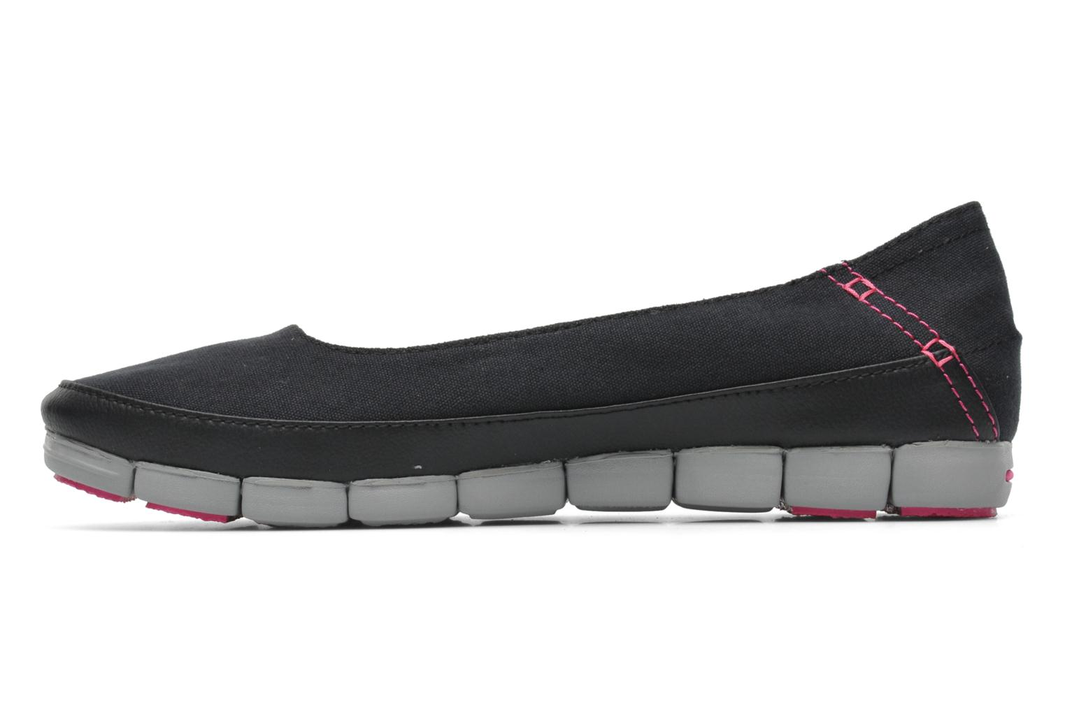 Stretch Sole Flat W Black/light Grey