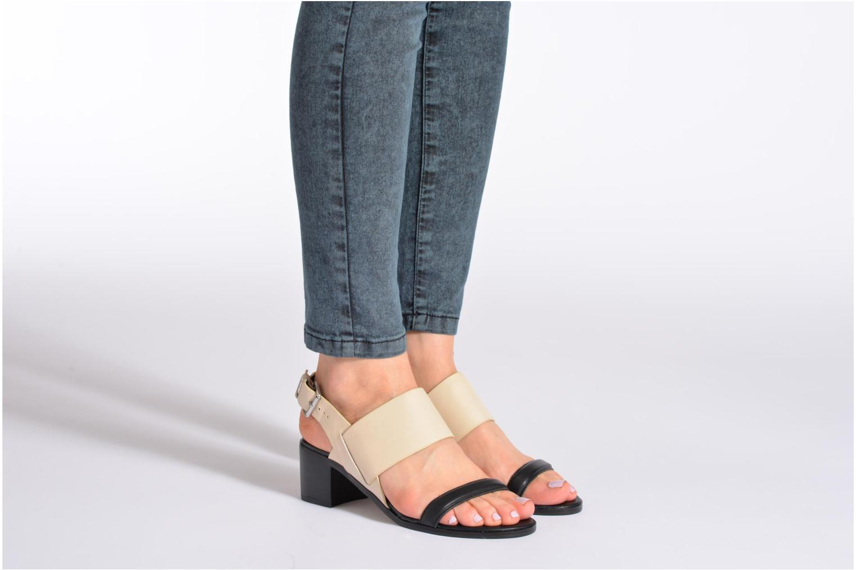 Sandales et nu-pieds Aldo Jerosen Beige vue bas / vue portée sac