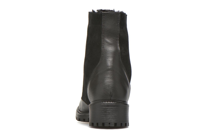 Boots en enkellaarsjes Pieces Uda leather Zwart rechts