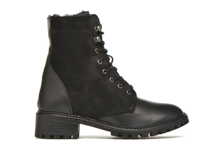 Boots en enkellaarsjes Pieces Uda leather Zwart achterkant
