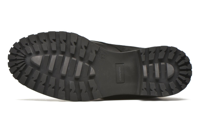 Bottines et boots Pieces Uda leather Noir vue haut