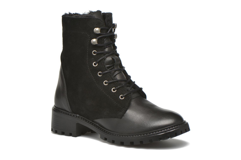 Boots en enkellaarsjes Pieces Uda leather Zwart detail